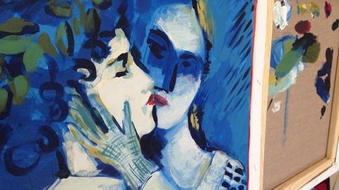 Netcurso-pinta-5-cuadros-en-5-dias-con-pintura-acrilica