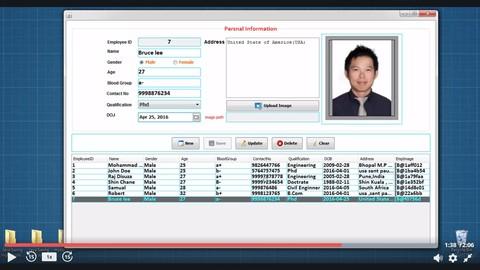 Java Swing Desktop App with CRUD Operations Using MySql | Udemy