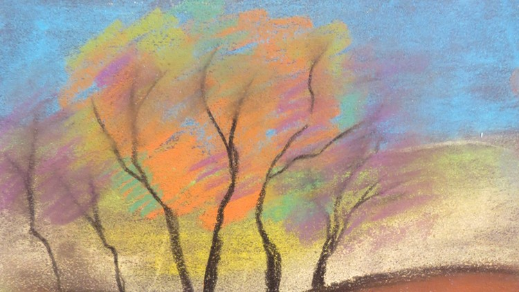 Chalk Pastels For Beginners Autumn Landscape And Apples