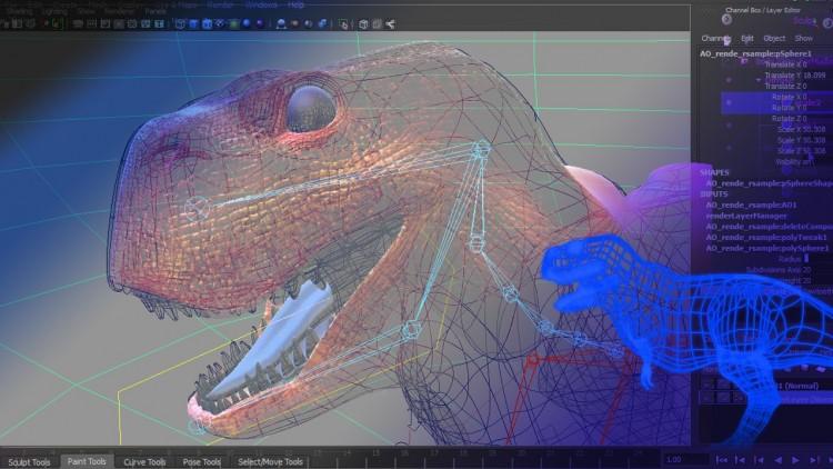 Maya Rigging a Dinosaur in 4 hours | Udemy