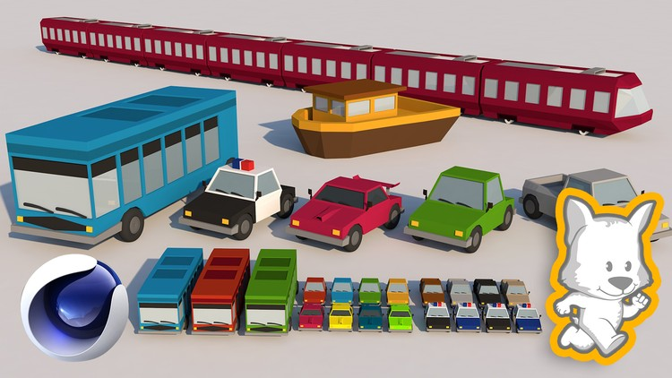 Low Poly Modeling in Cinema 4D - Vol 2: 3D Cars and Vehicles | Udemy