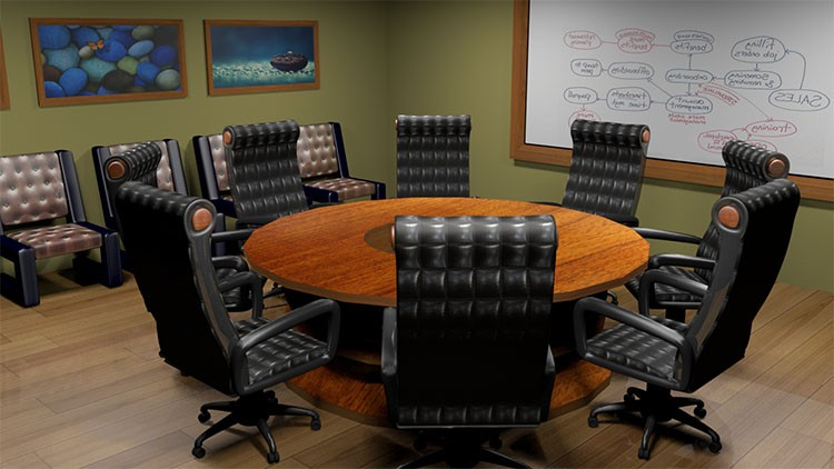 3D Modeling and Texturing Interior Office in Autodesk Maya