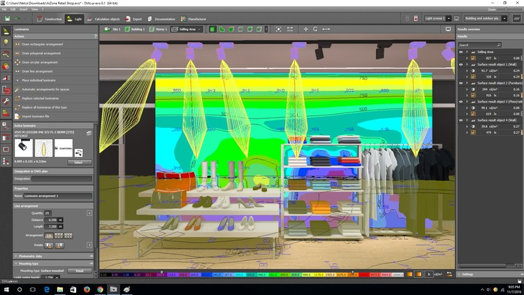 Retail shop lighting design using dialux evo udemy