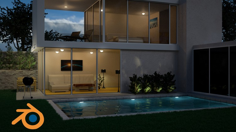 Create Design A Modern 3d House In Blender Udemy