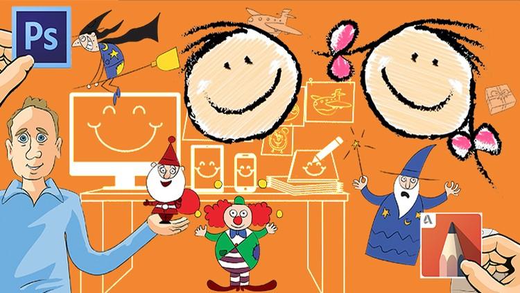 Step by step cartoon drawings for kids