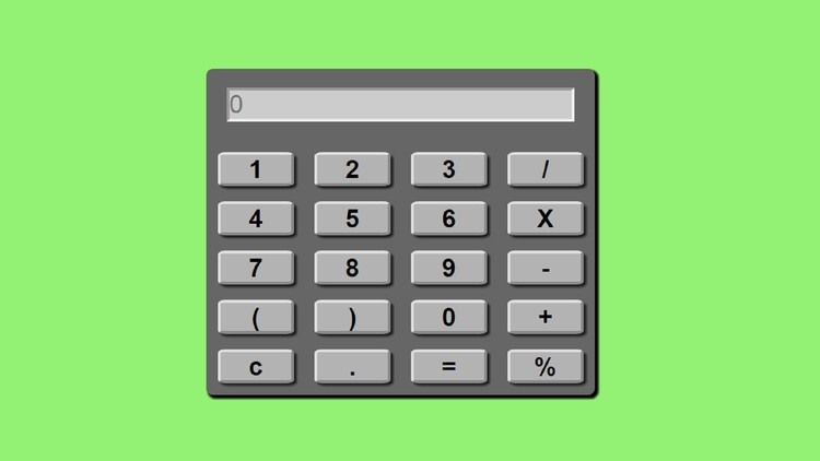 Learn Javascript Web App Development -Build A Calculator App | Udemy