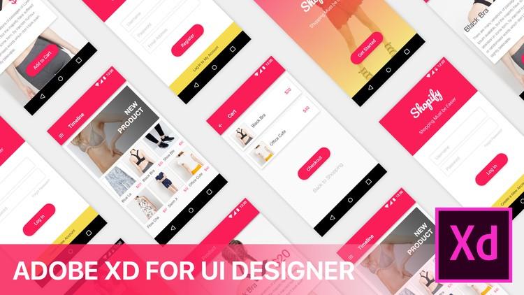UI/UX Design with Adobe XD : E-Commerce App   Udemy