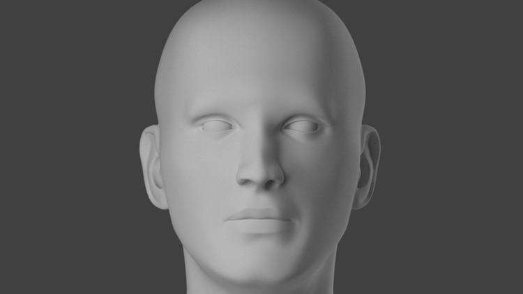 blender face appears black