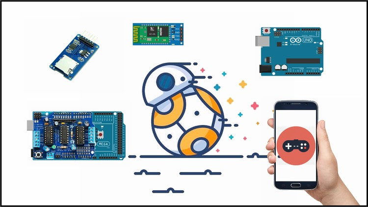 DIY Bluetooth Phone Controlled BB-8 Droid with Arduino | Udemy