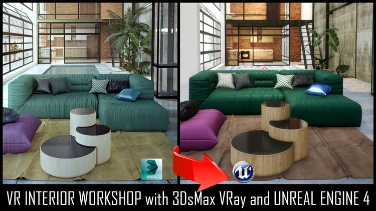 Unreal Engine 4 VR Interior Tour with 3DsMax VRay Photoshop | Udemy