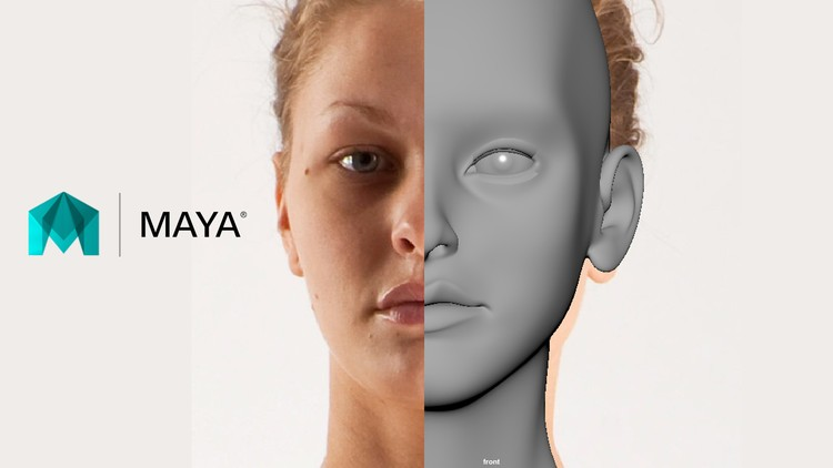 Free 3D Modeling Tutorial - Learn Maya - Character Head