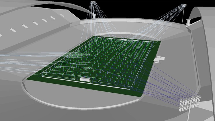 Football lighting design w camera using dialux udemy