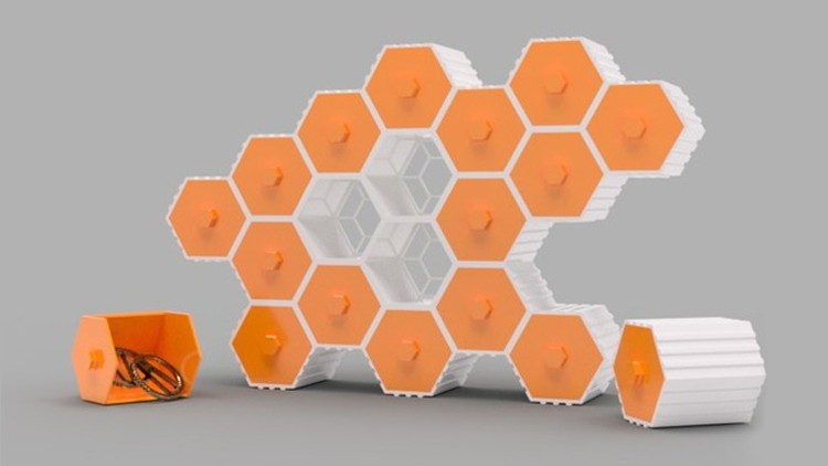 SelfCAD - Browser-Based 3D Modeling/Printing (Hex Drawers).