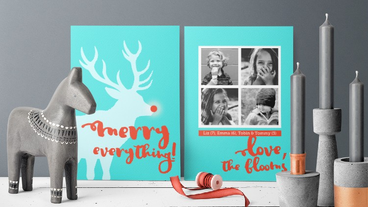 Diy Holiday Cards In Photoshop Udemy