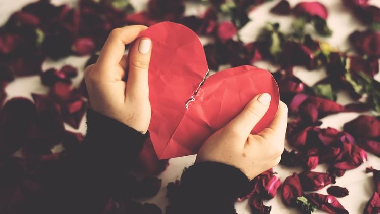 Image result for breakup heart