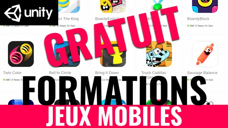 UNITY : DES FORMATIONS POUR JEUX MOBILES (2019)