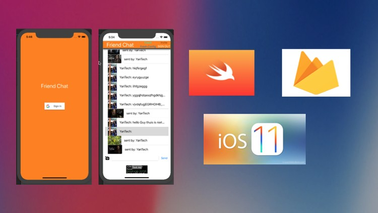 Simple iOS Chat App in Swift 4 & Firebase 4 | Udemy