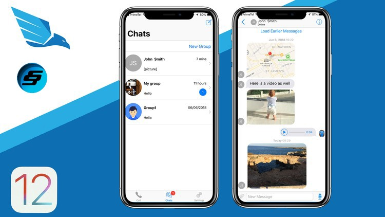 iOS 12 Chat Application like WhatsApp and Viber | Udemy