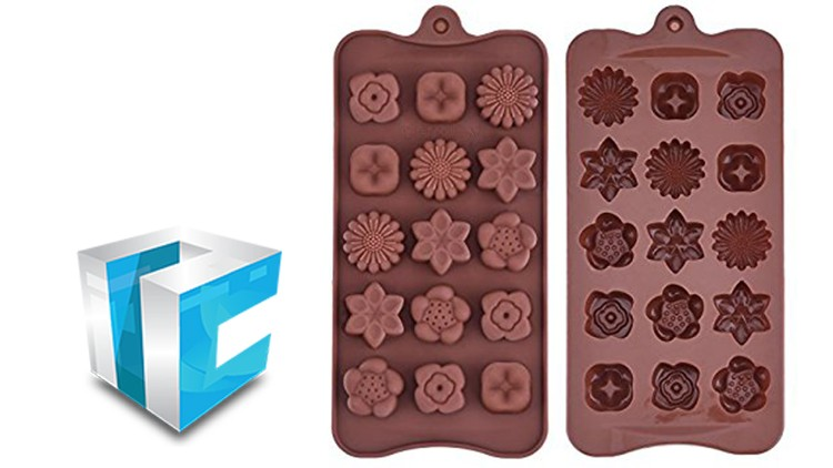 SelfCAD - 3D Modeling & 3D printing Chocolate Molds Palette.