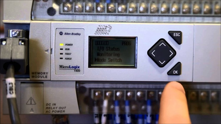 Setup the Micrologix 1400 PLC for Modbus RS485 Communication