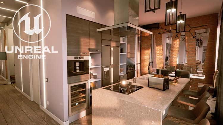 Unreal Engine 4 - Realistic Render Kitchen - the Drawing r-m | Udemy
