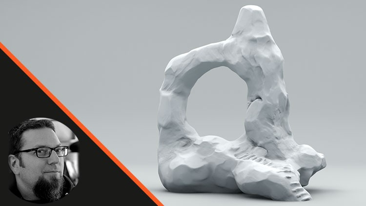 Sculpt a Rock Archway Ruin in Zbrush