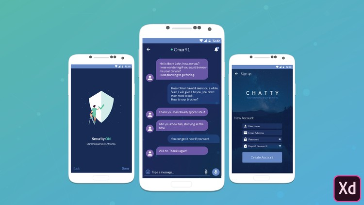 UX/UI Design: Design Beautiful Messaging App with Adobe XD
