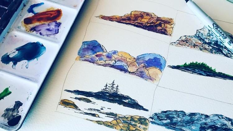 Learn 6 Easy Rock Watercolor Techniques