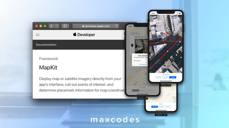 MapKit & CoreLocation in Swift & Xcode – Build Map Features.