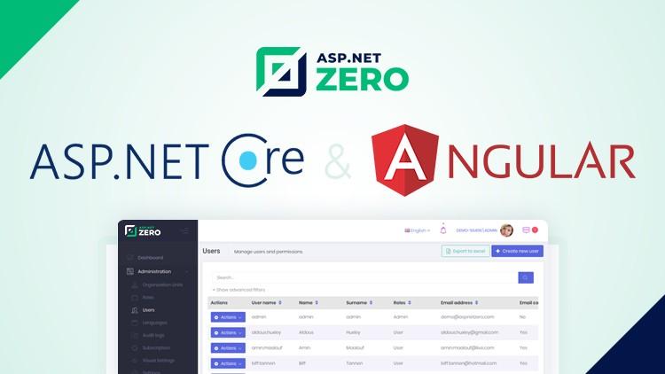 ASP NET Zero: Development with ASP NET Core & Angular | Udemy