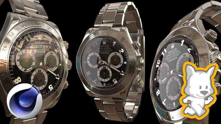 [100% Off UDEMy Coupon] - Hard Surface 3D Modeling in Cinema 4D: Hyper Realistic Watch