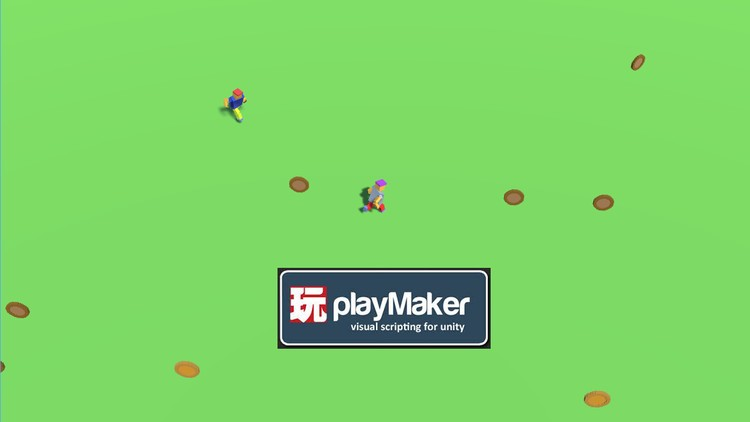 Make .io Hyper Casual Game with NO Coding in PlayMaker Unity