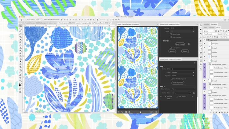 Pattern Design with the NEW Adobe Textile Designer Plugin