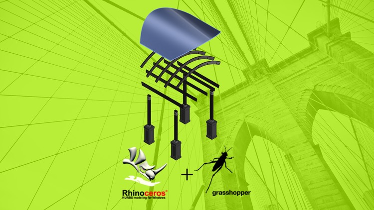 Grasshopper Parametric interlocking space frame structure