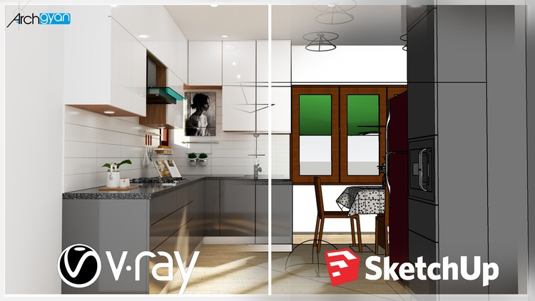 Vray Next + Sketchup 2019: Creating a Kitchen for Beginners