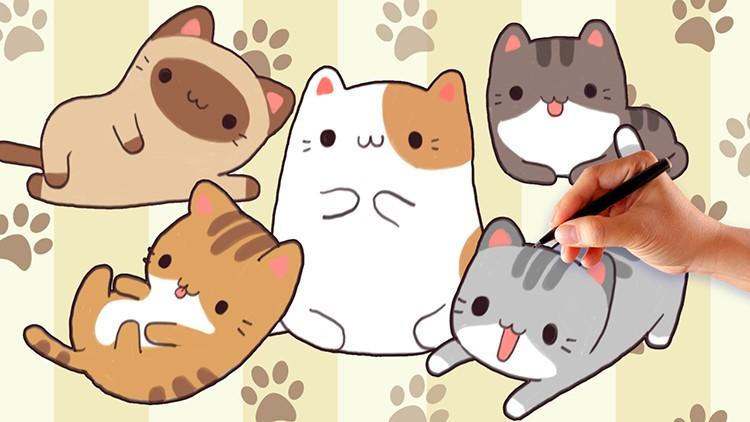 How To Draw Cute And Kawaii Cartoon Cat