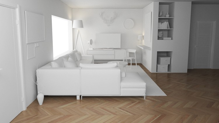 3DS Max, AutoCAD, Vray: Creating a Complete Interior Scene
