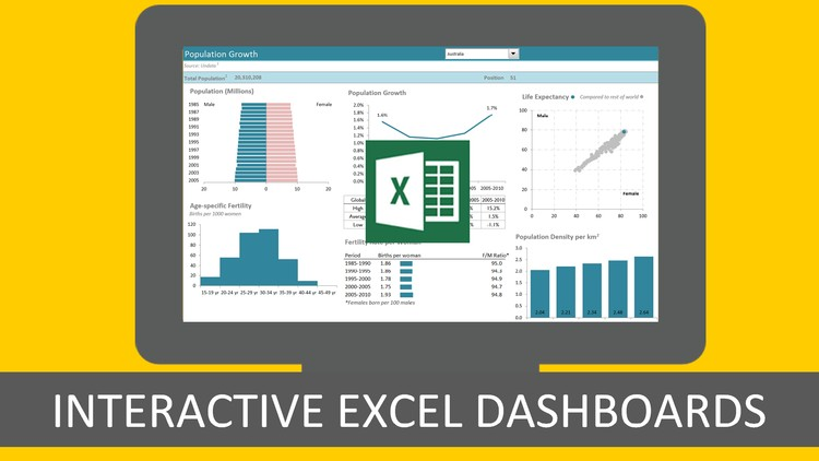 Excel with Interactive Excel Dashboards | Udemy