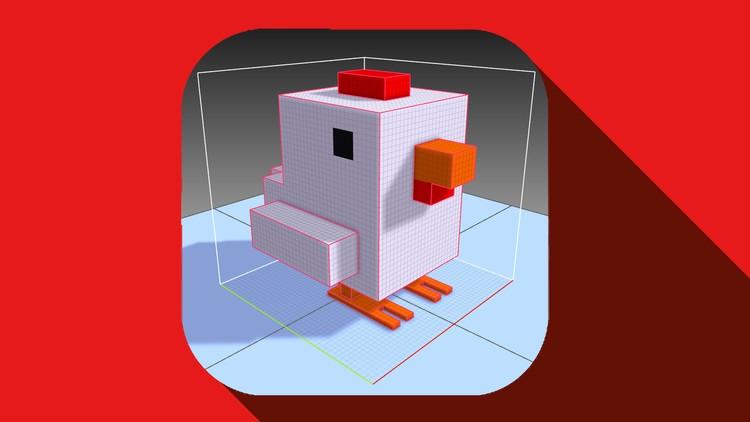 3D Pixel Art for non artist  Crossy Road Modeling  Unity 3D