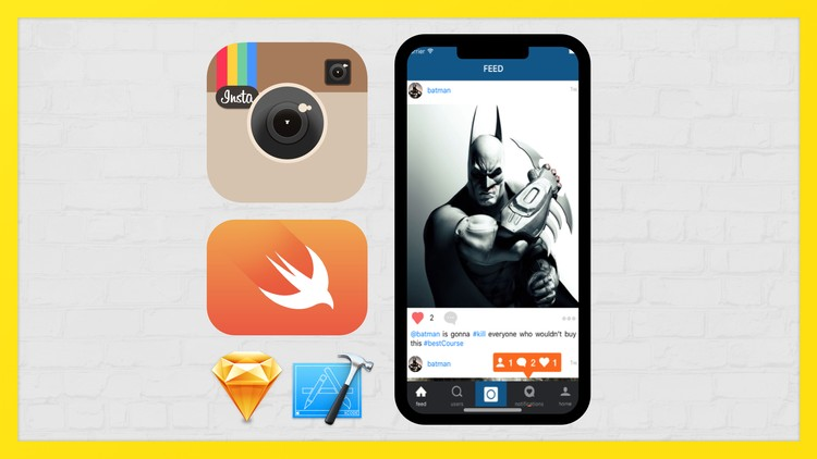 Create FULL iOS INSTAGRAM Clone with Swift, Xcode Be Advance | Udemy