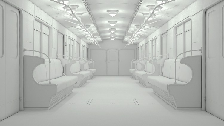 3ds max making of subway train