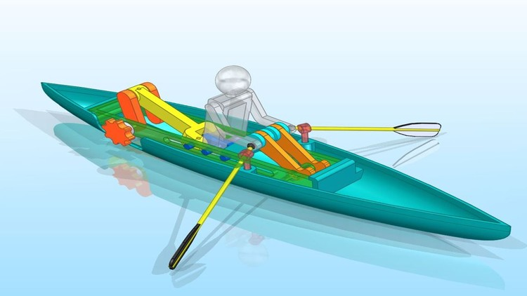 Create a Rowboat Mechanism Using Siemens Solid Edge