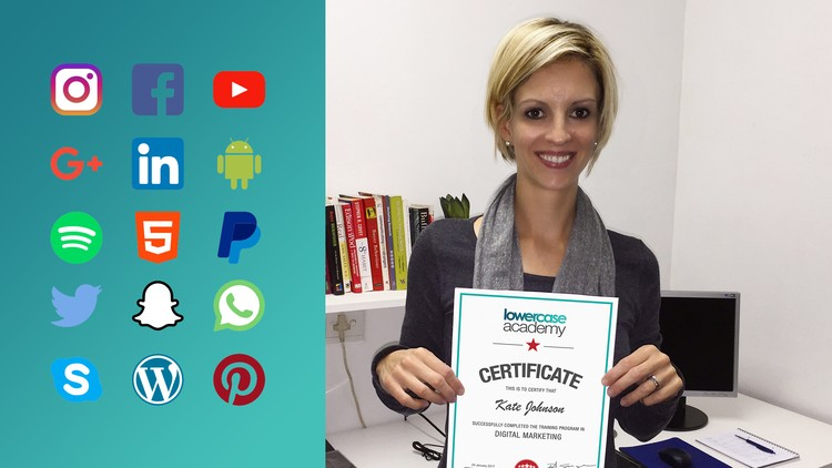 Certificate in Digital Marketing   Udemy